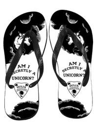 Am I Secretly A Unicorn Ouija Board Flip Flops