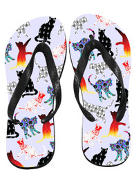 Darkside Cats Flip Flops