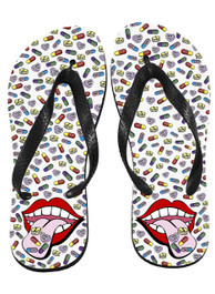Happy Pills Flip Flops
