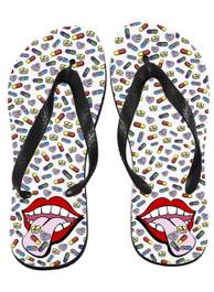Happy Pills Flip Flops