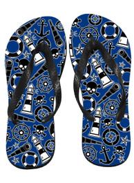 Nautical Tattoo Flip Flops