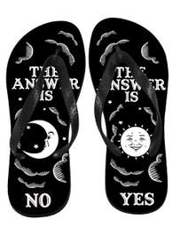 The Answer Is Yes No Ouija Board Flip Flops