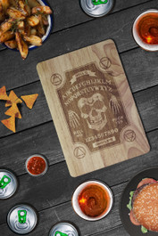Ghoul Ouija Board Engraved Wooden Chopping Serving Board