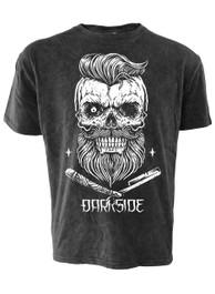 Bearded Skull Black Acid Wash T Shirt