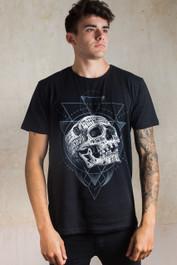 Inked Skull Mens T Shirt