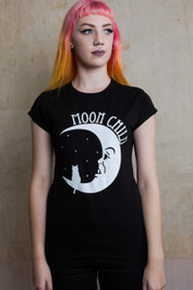 Moonchild Womens Scoop Neck T Shirt