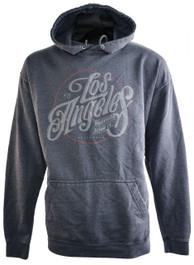 LA Logo Grey Washed Pullover Hood