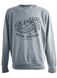 LA Speedway Grey Washed Sweatshirt