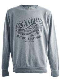 LA Speedway Grey Washed Sweatshirt