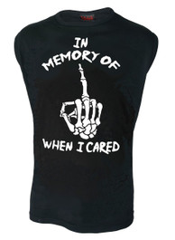In Memory Of When I Cared Mens Sleeveless Vest