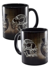 Inked Skull Black Mug