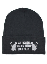 Witches Cats and Netflix Beanie Hat