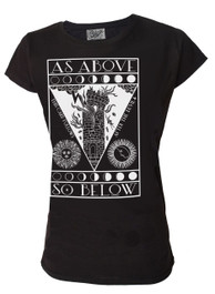 As Above So Below Womens T Shirt