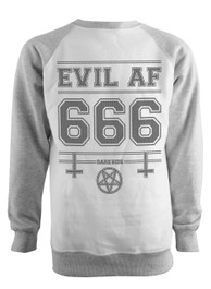 Evil As F  k Grey Raglan Sweatshirt