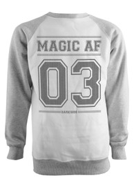 Magic As F  k Grey Raglan Sweatshirt