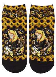 Alice In Wonderland Short Socks