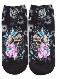 Butterfly Skull Short Socks