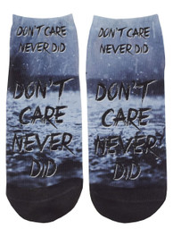Dont Care Never Did Short Socks