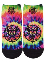 Mickey 666 Tie Dye Short Socks