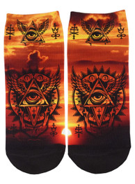 All Seeing Eye Short Socks