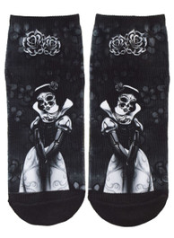 Snow White Skeleton Short Socks