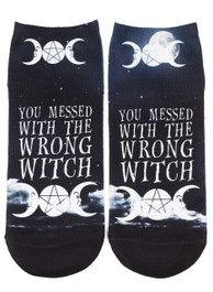 You Messed With The Wrong Witch Short Socks