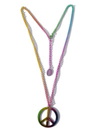 Raninbow Peace Sign Necklace