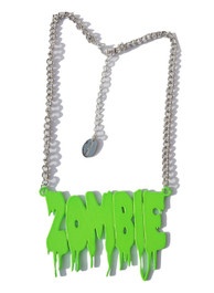 Green Zombie Melt Necklace