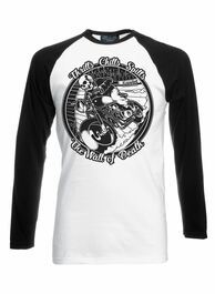 Wall Of Death Black White Long Sleeve Raglan T Shirt