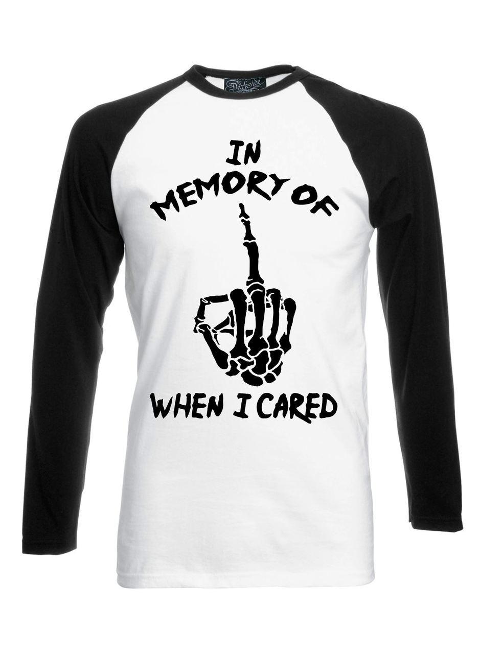 0747f953e In Memory Black White Long Sleeve Raglan T Shirt. Image 1
