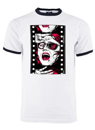 Horror Film Reel Mens Ringer T Shirt