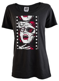 Horror Film Reel Womens T Shirt