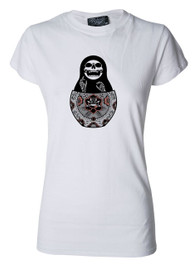 Matryoshka Womens White T Shirt