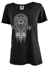 Evil Hamsa Womens T Shirt