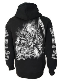 Tarot Reaper Fleece Zip Hood