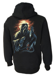 Ghost Scream Fleece Zip Hood
