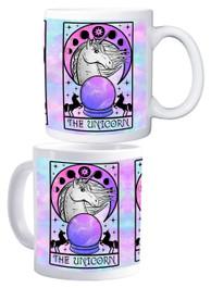 Unicorn Tarot Card White Mug