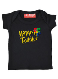 Happy Toddler T Shirt Black