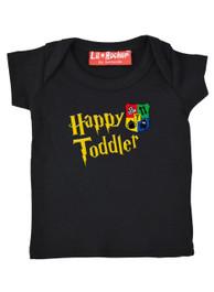 Happy Toddler T Shirt Black