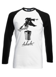 Skateboard Reaper Mens Long Sleeve Baseball T Shirt