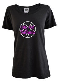 Cute But Satanic Womens Scoop Neck T Shirt