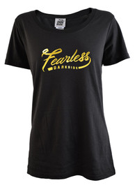 Fearless Gold Foil Womens Scoop Neck T Shirt