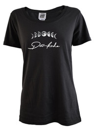 Moon Phase Womens Scoop Neck T Shirt