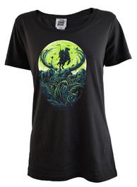 Moonlit Reaper Womens Scoop Neck T Shirt