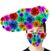 Virus Cartoon Face Mask