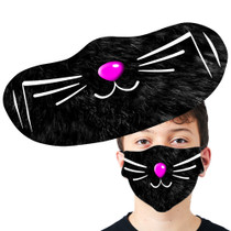 Black Cats Whisker Face Mask