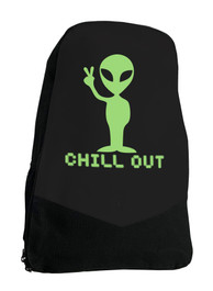 Alien Chill Out Sci Fi Darkside Backpack Laptop Bag