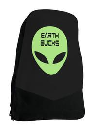 Alien Earth Sucks Sci Fi Darkside Backpack Laptop Bag
