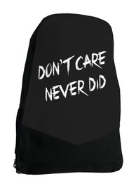 Dont Care Never Did Gothic Darkside Backpack Laptop Bag
