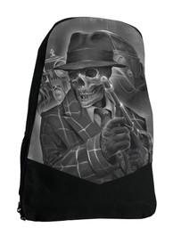 Gangster Skeleton Darkside Backpack Laptop Bag